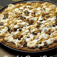 Chocolate Peanut Butter Dessert Pizza