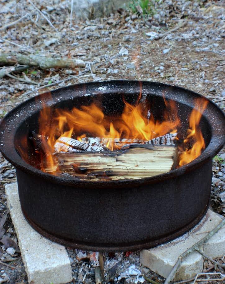 Blackberry Campfire Cobbler Fire Pit