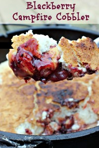 Blackberry Campfire Cobbler Fresh from the dutch oven.