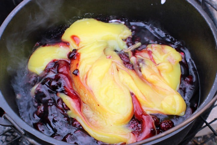 Blackberry Campfire Cobbler Pie Filling