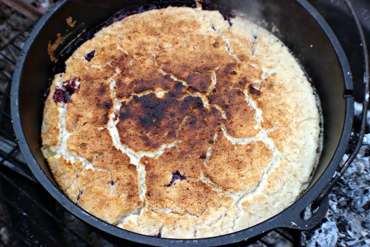 Blackberry Campfire Cobbler Ready to eat