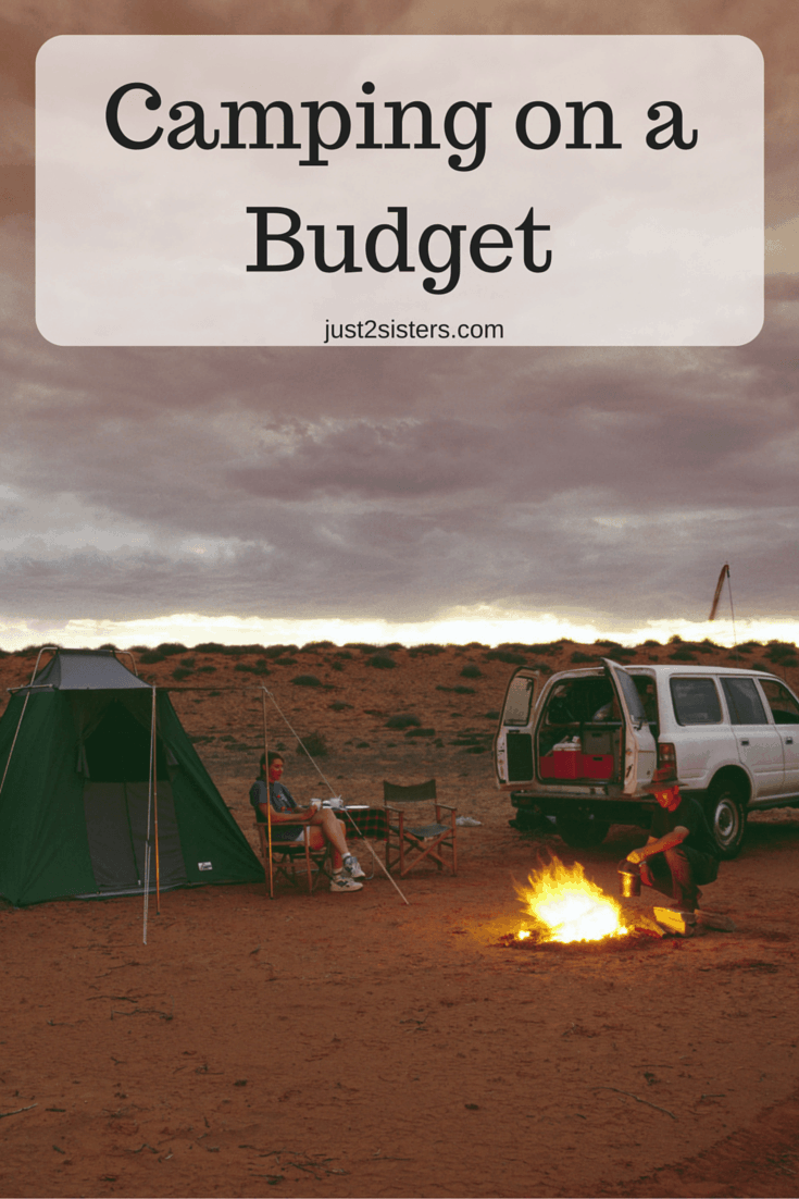Camping on a Budget just2sisters.com