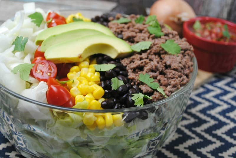Easy Taco Salad just2sisters.com