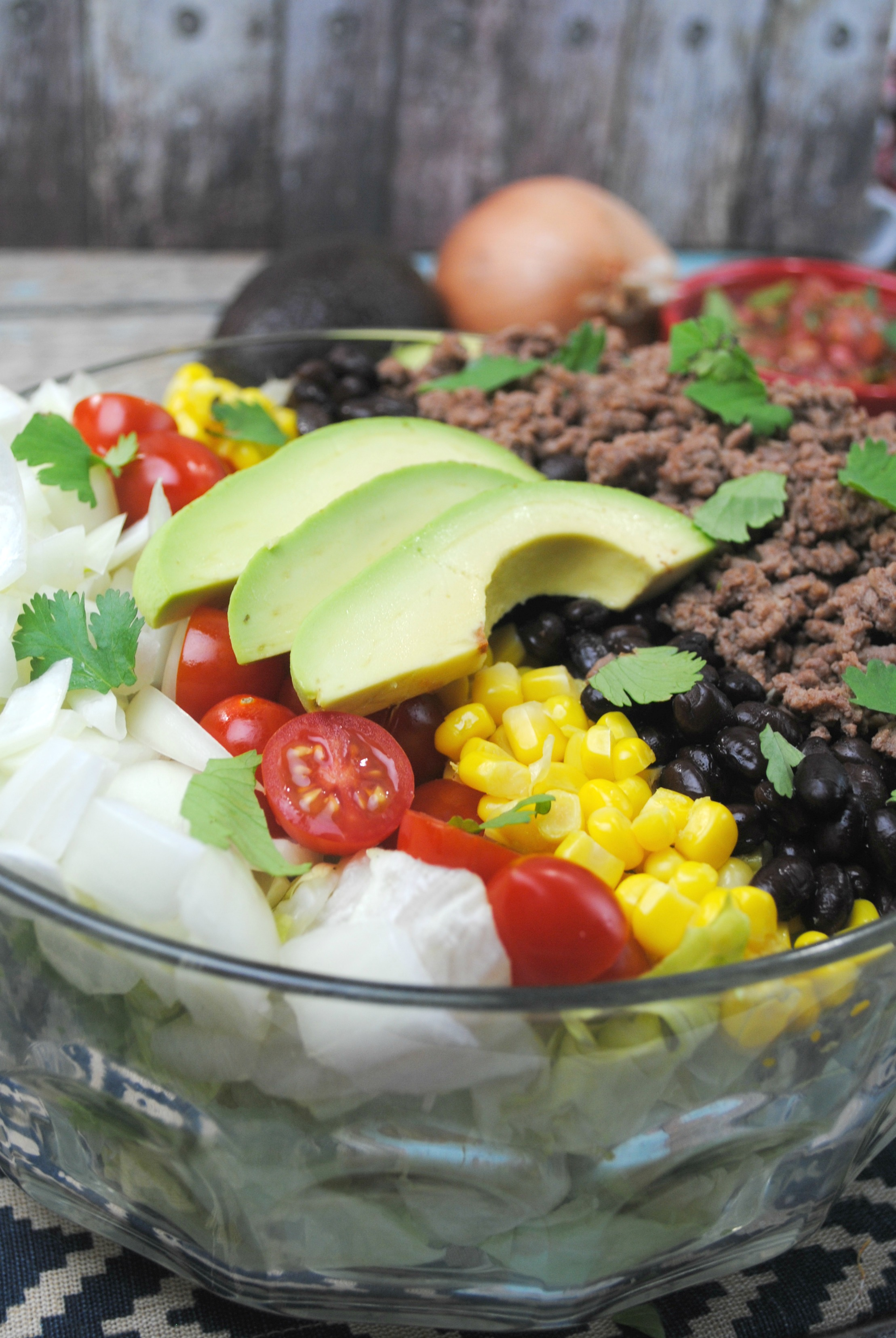 Easy Taco Salad just2sisters.com