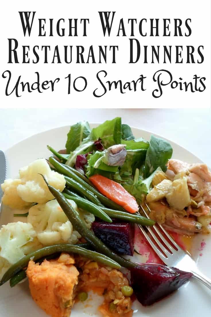 Weight Watchers Restaurant Dinners Under 10 Smart Points