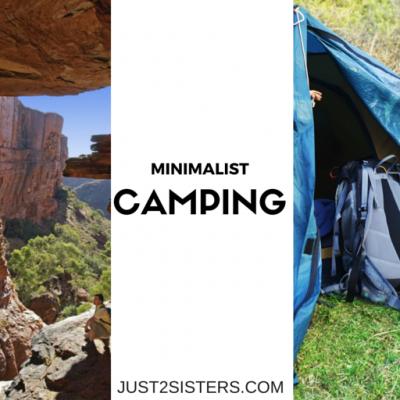 Minimalist Camping just2sisters.com