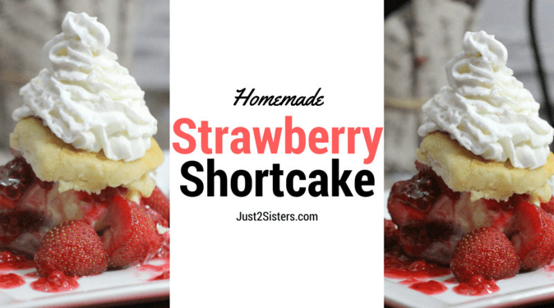 Homemade Strawberry Shortcake is easier than you might think and if you want to make it even faster you can use store bought biscuits! Quick, Easy, & Delish