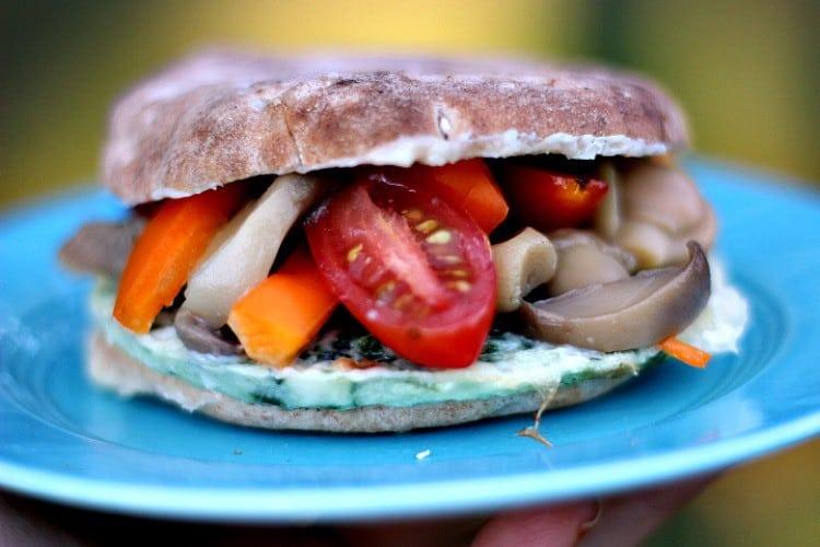 Easy Breakfast Sandwich Ideas. Veggie Lovers