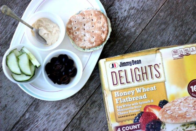 Jimmy Dean Delights Breakfast Sandwich Mediterranean Style.