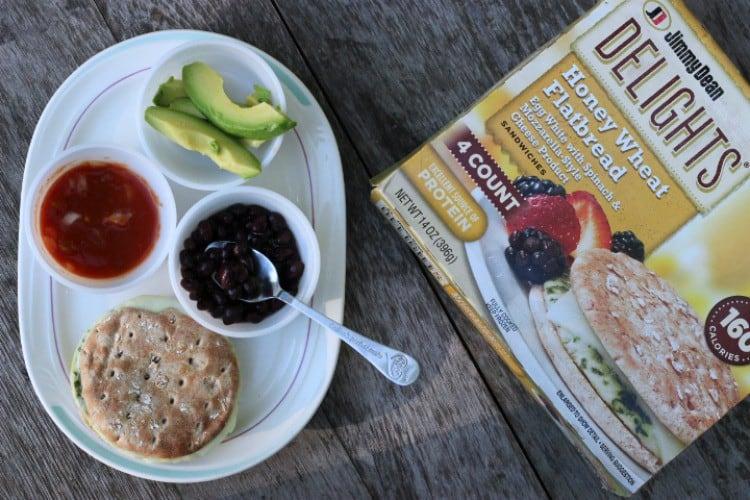 Jimmy Dean Delights Breakfast Sandwich Southwestern Style.