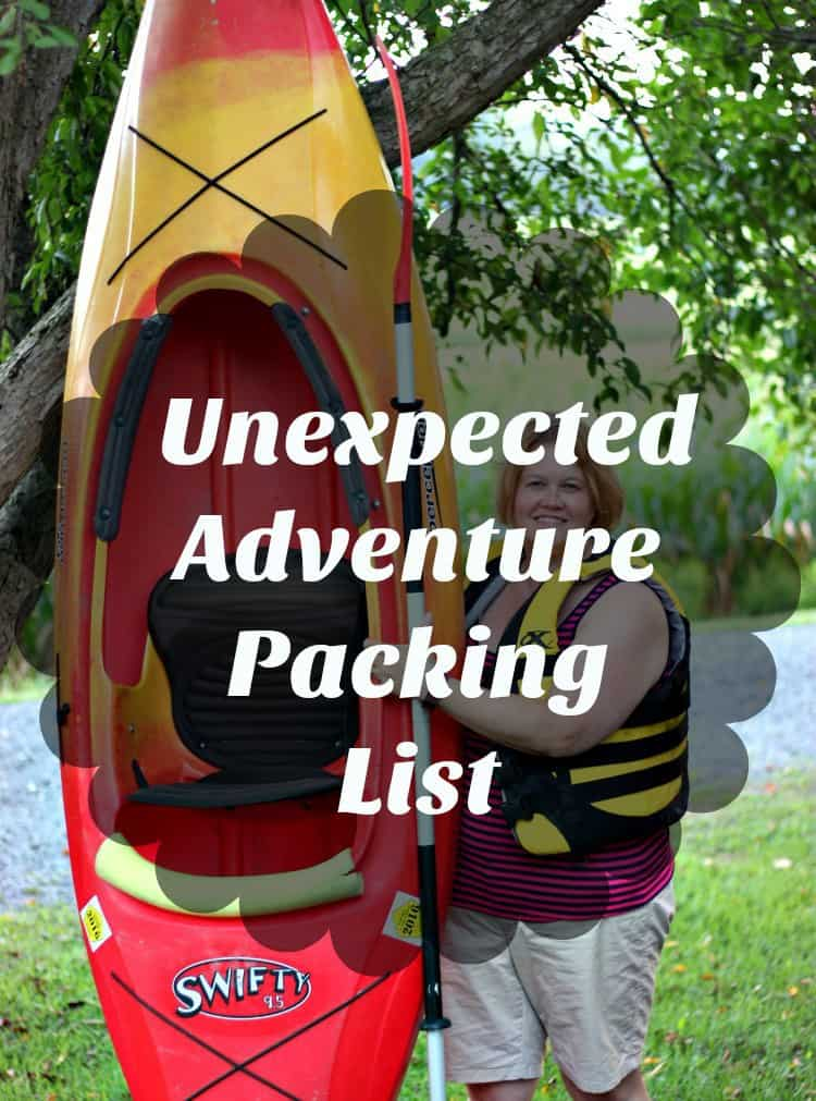 Unexpected Adventure Packing List. Be ready for those last minute trips!