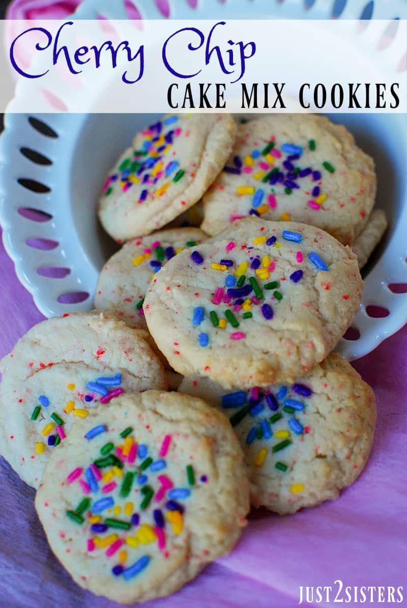 Cherry Cookies Using Cake Mix
