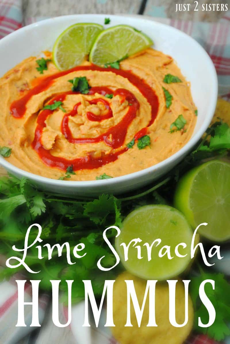 This lime sriracha hummus recipe really hits the spot!