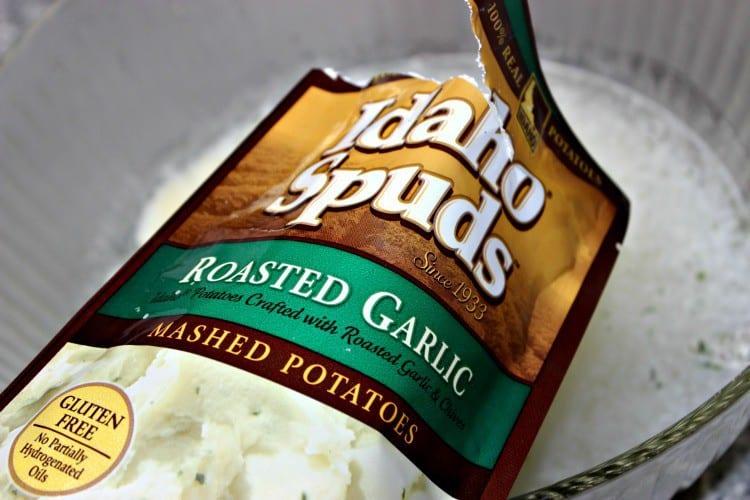 Roasted Garlic Mashed Potato Stuffing Casserole