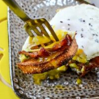Bacon Egg and Avocado Toast Recipe