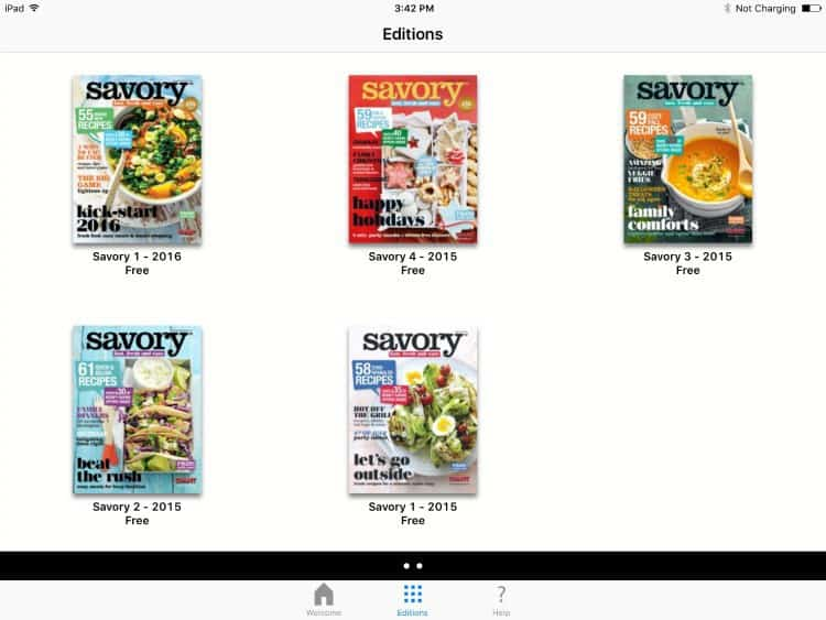 make-dinner-easy-savory-app-editions