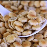 No Bake Ranch Oyster Crackers