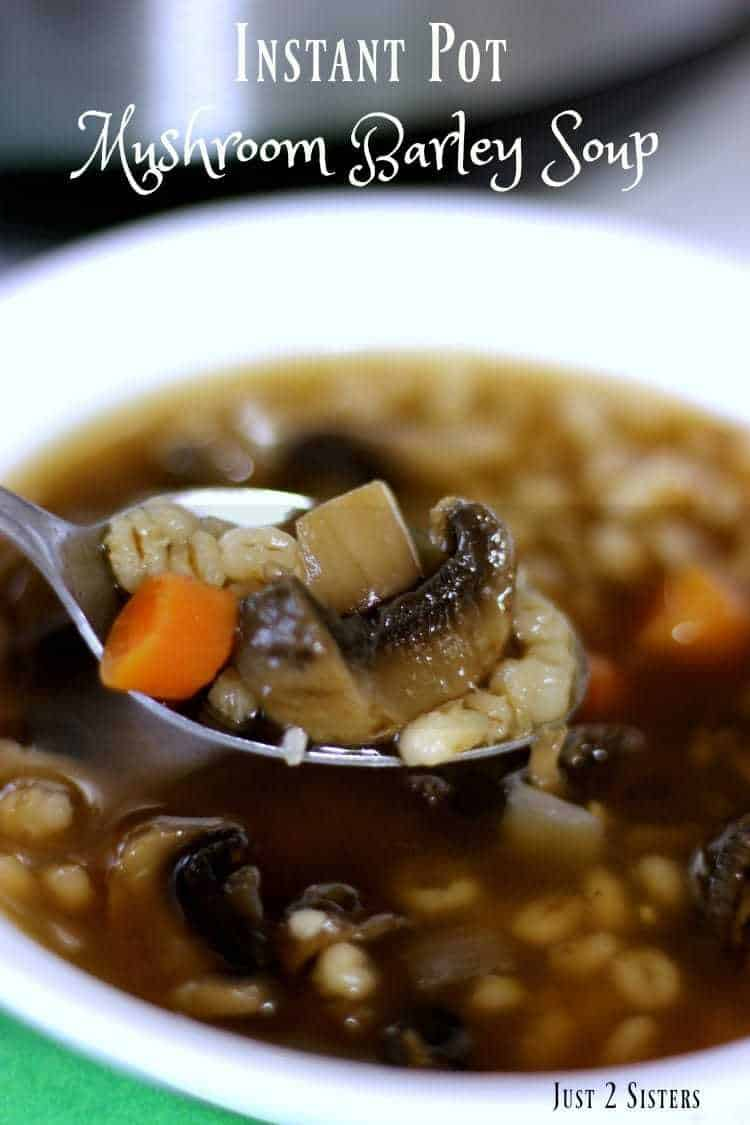 Make this delicious soup that is a whole meal in a bowl! Instant Pot Mushroom Barley Soup is ready in 30 minutes.