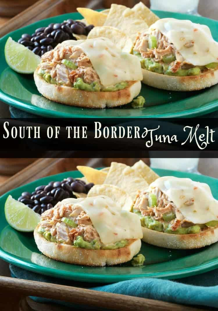 This is no ordinary sandwich. South of the Border Tuna Melt Recipe is a new family favorite. It's on the menu plan every month.