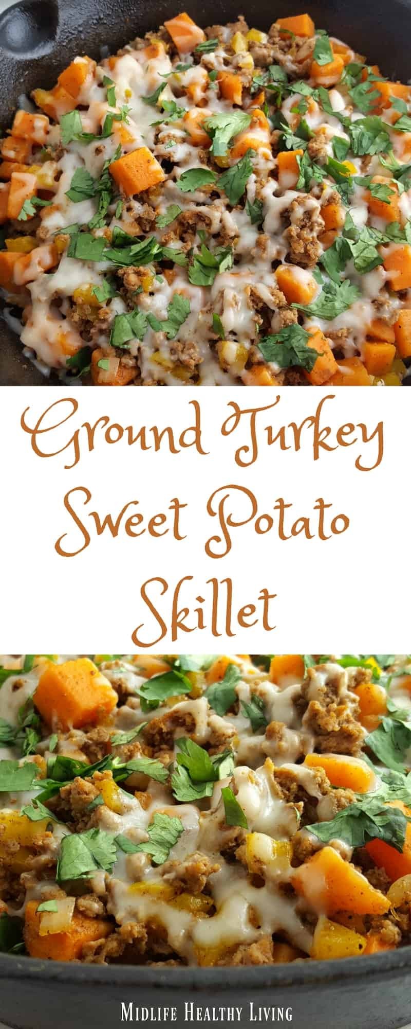 This ground turkey sweet potato skillet recipe is simple, easy, delicious, and Weight Watchers friendly! Each serving is only 6 Freestyle Smart Points.