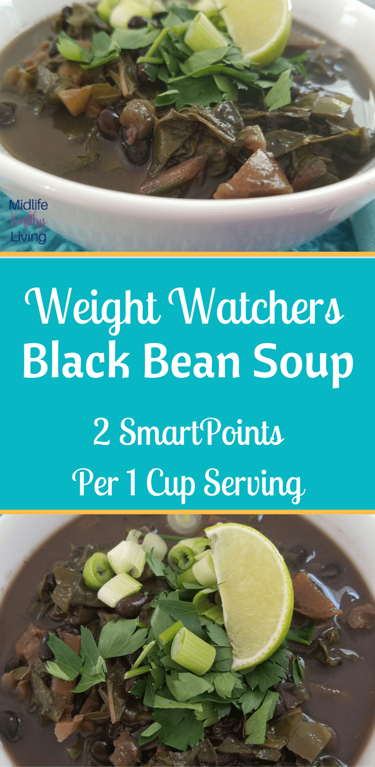 Weight Watchers Black Bean Soup is a great 2 SmartPoint meal that is delicious and easy to make! This Instant Pot Soup is ready in under 30 minutes!