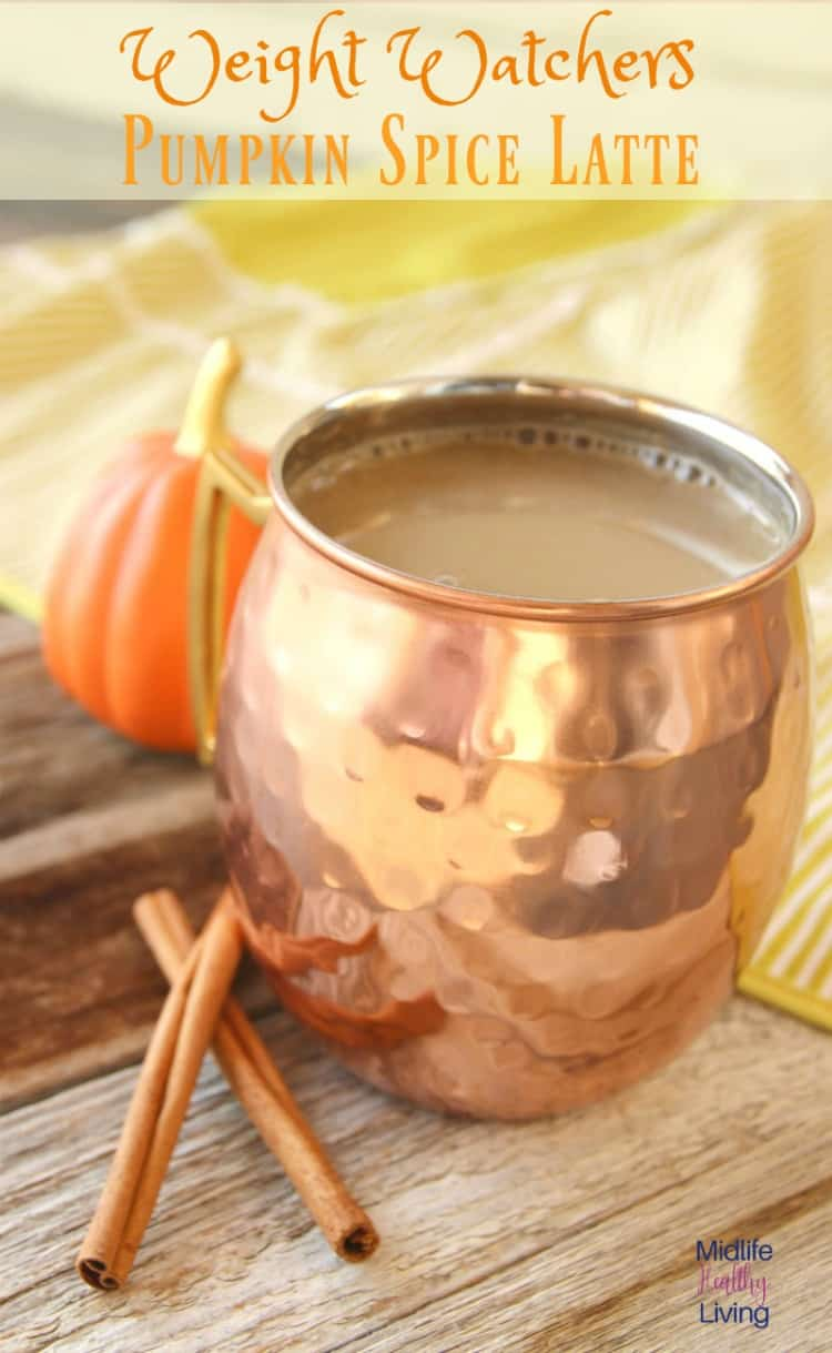 This Weight Watchers Pumpkin SpiceLatte quenches the craving for something cozy while being only a very low 2 Weight Watchers Freestyle Smart Points per serving. I can't wait to share this simple recipe for a healthy version of PSL!