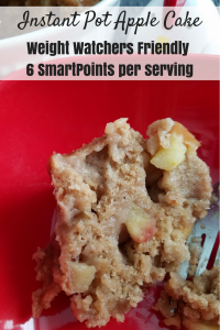 Instant Pot Weight Watchers Recipes like this easy Apple Cake are so great for fall weather treats! Make this 6 SmartPoints recipe in under 30 minutes in your Instant Pot!