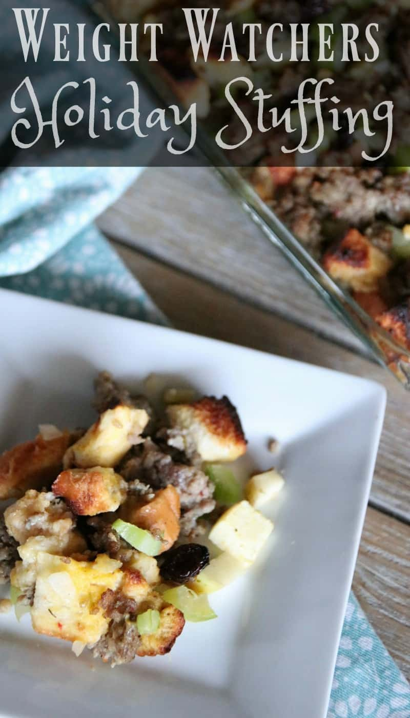 I am excited to share with you myWeight Watchers Sausage Stuffing. A delicious recipe simple to make with minimal ingredients! Only 2 SP per serving.