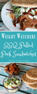 I am excited to share with you myWeight Watchers BBQ Pulled PorkRecipe. A delicious recipe simple to make with minimal ingredients!