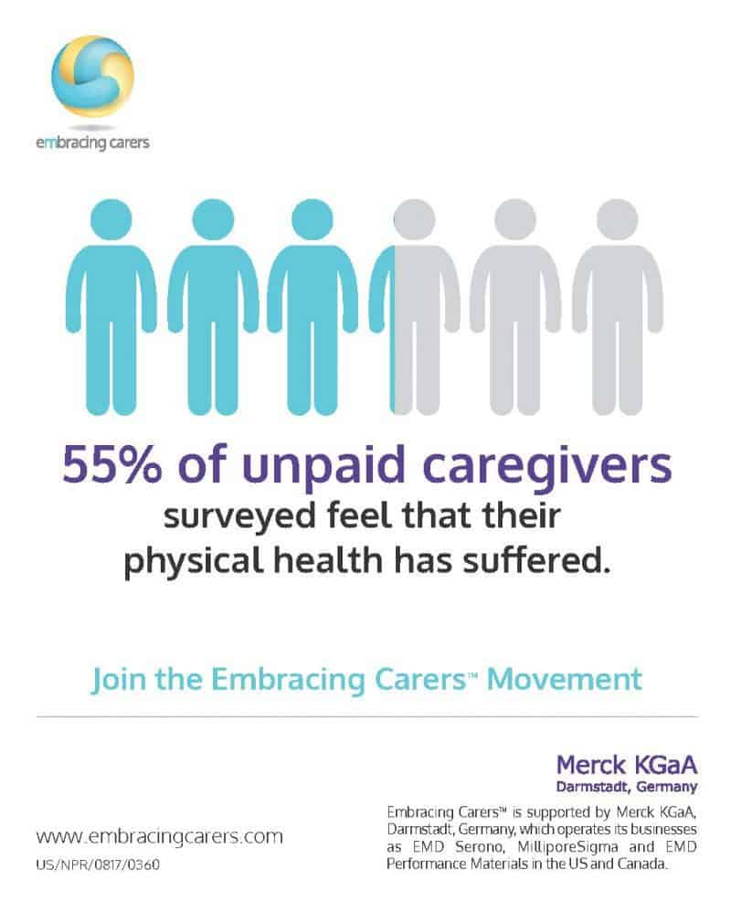 Taking on the role as unpaid caregivers can be rewarding and stressful at the same time. There is support for you. Spread the word to raise awareness.