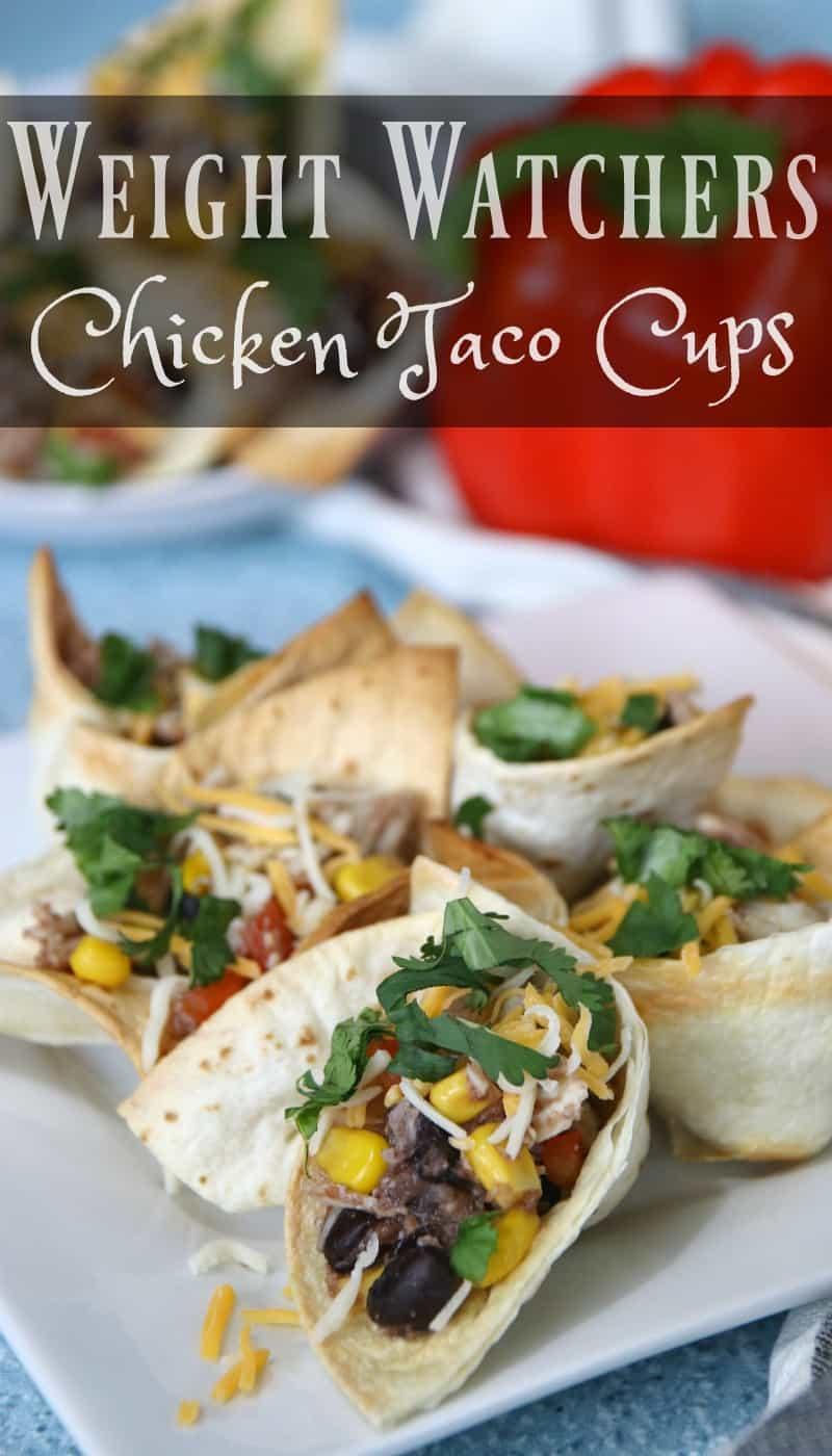 Weight Watchers Chicken Taco Cups