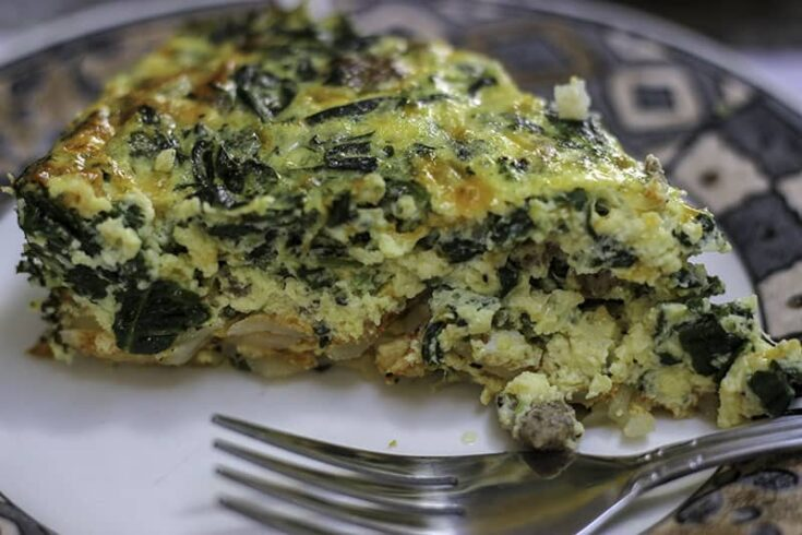 Spinach and Sausage Quiche with Potato Crust Recipe (Giveaway)