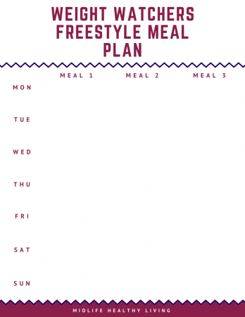 One of the things that has helped me see success is a Weight Watchers Freestyle meal plan. Meal plans are a great way to keep track of your points before you eat them! I like knowing how many points I'll need to get through my day.