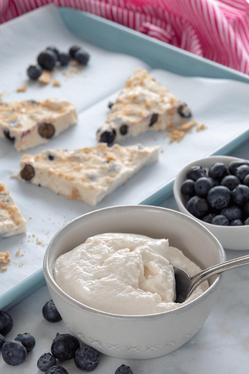 Weight Watchers Blueberry Frozen Yogurt Bark Recipe