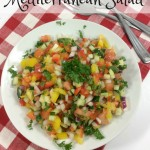 This Weight Watches Mediterranean salad is light and delicious. It's a great summer side dish. It's healhty too, just 1 Freestyle Smart Point per serving!