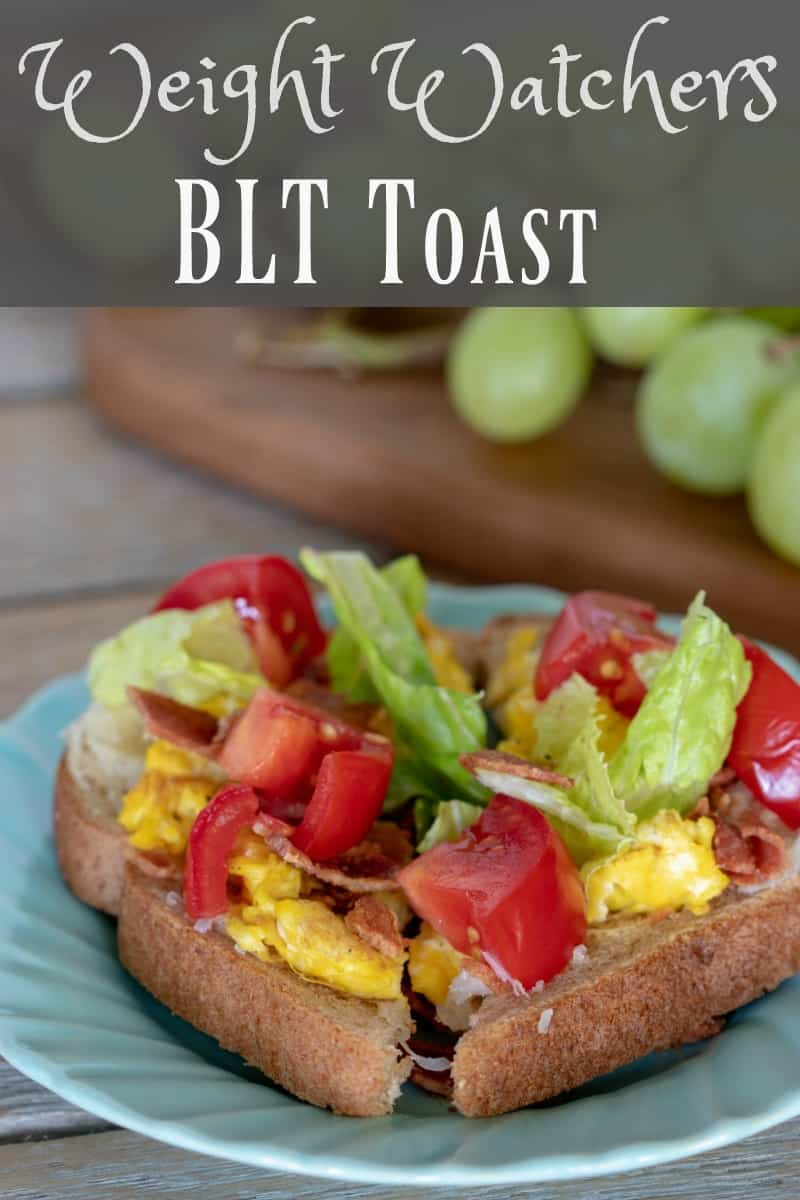 Weight Watchers BLT Toast is a great twist on the breakfast many of us eat: just eggs and toast. Just 3 Freestyle Smart Points per serving!