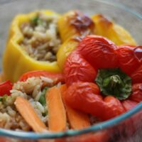 Beef and Broccoli Stuffed Peppers
