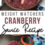 Pin showing the finished weight watchers cranberry sauce