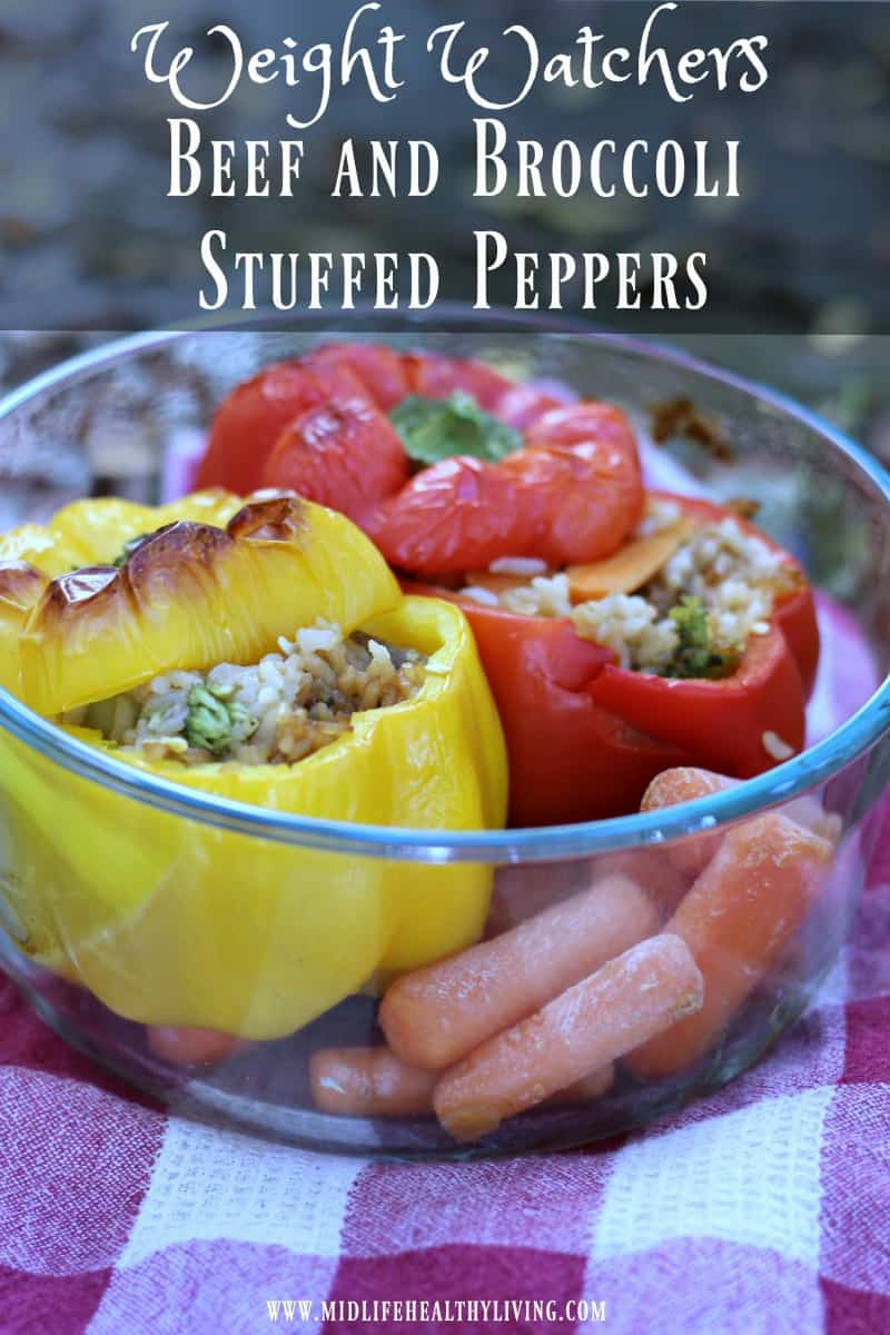 Try this easy Beef and Broccoli Stuffed Peppers Recipe. It's healthy, delicious and on the table in less than 30 minutes! #ad #TaiPeiFood #TaiPeiAsianFoods #FrozenAsianFood http://bit.ly/2Nv4iwZ  #WWRecipes Weight Watchers friendly at only 7 points per serving.