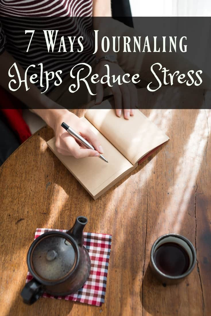 This post gives you 7 Easy Ways to Reduce Stress with a Journal. Reducing stress is definitely a benefit to your health and wellness. #wellness #healthyliving #midlife #stressrelief