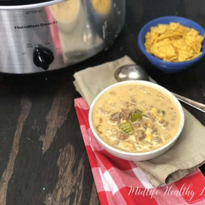 Crockpot cheeseburger soup is a healthy and hearty Weight Watchers Freestyle recipe that the whole family will love. Cheeseburger soup is a low point healthy dinner or lunch choice.