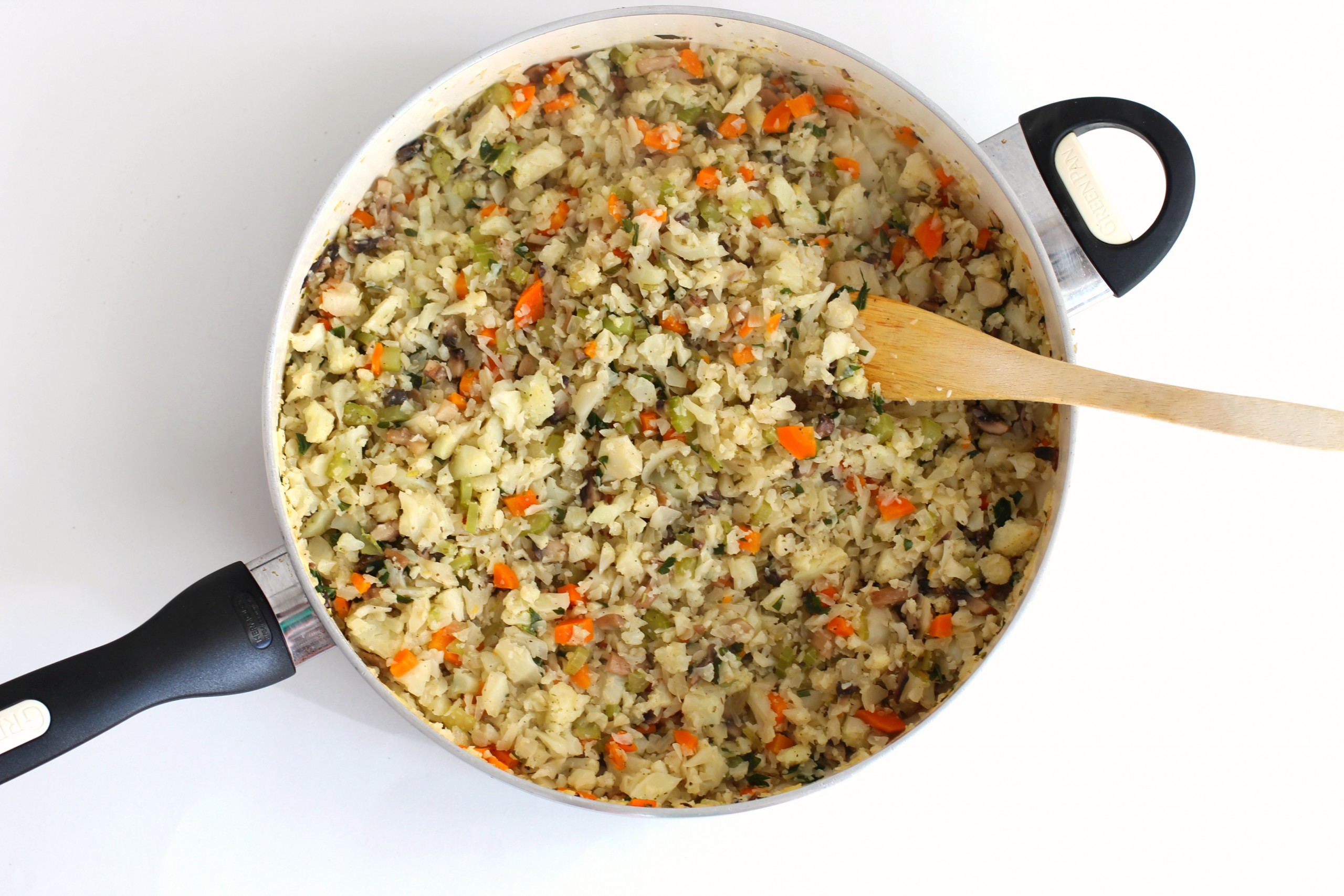 Try this cauliflower stuffing recipe for a low carb, Weight Watchers friendly, gluten free alternative.It's a great low carb stuffing recipe!