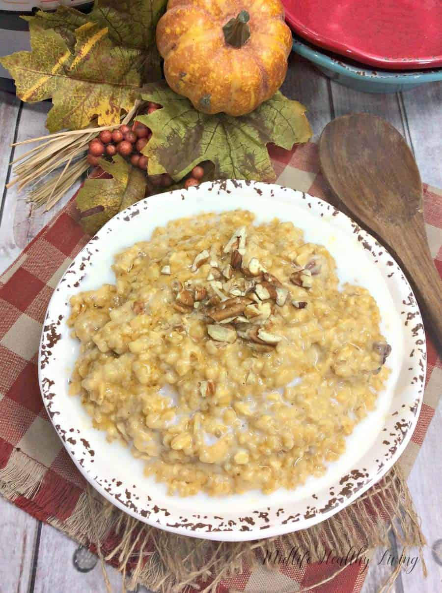 When Fall rolls around we all want something warm and hearty for breakfast, right? These Instant Pot pumpkin maple pecan steel cut oats hit the spot. They're sweet, healthy, and packed with great ingredients to keep you full and satisfied all morning long.