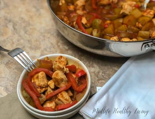Weight Watchers Italian chicken is a one pot meal that you can make it less than 40 minutes. It's a low points dinner recipe that everyone will love.