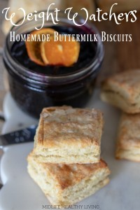 TheseWeight WatchersHomemade Buttermilk Biscuits are so good!There are 4 Weight Watchers FreestyleSmart Pointsin each serving.