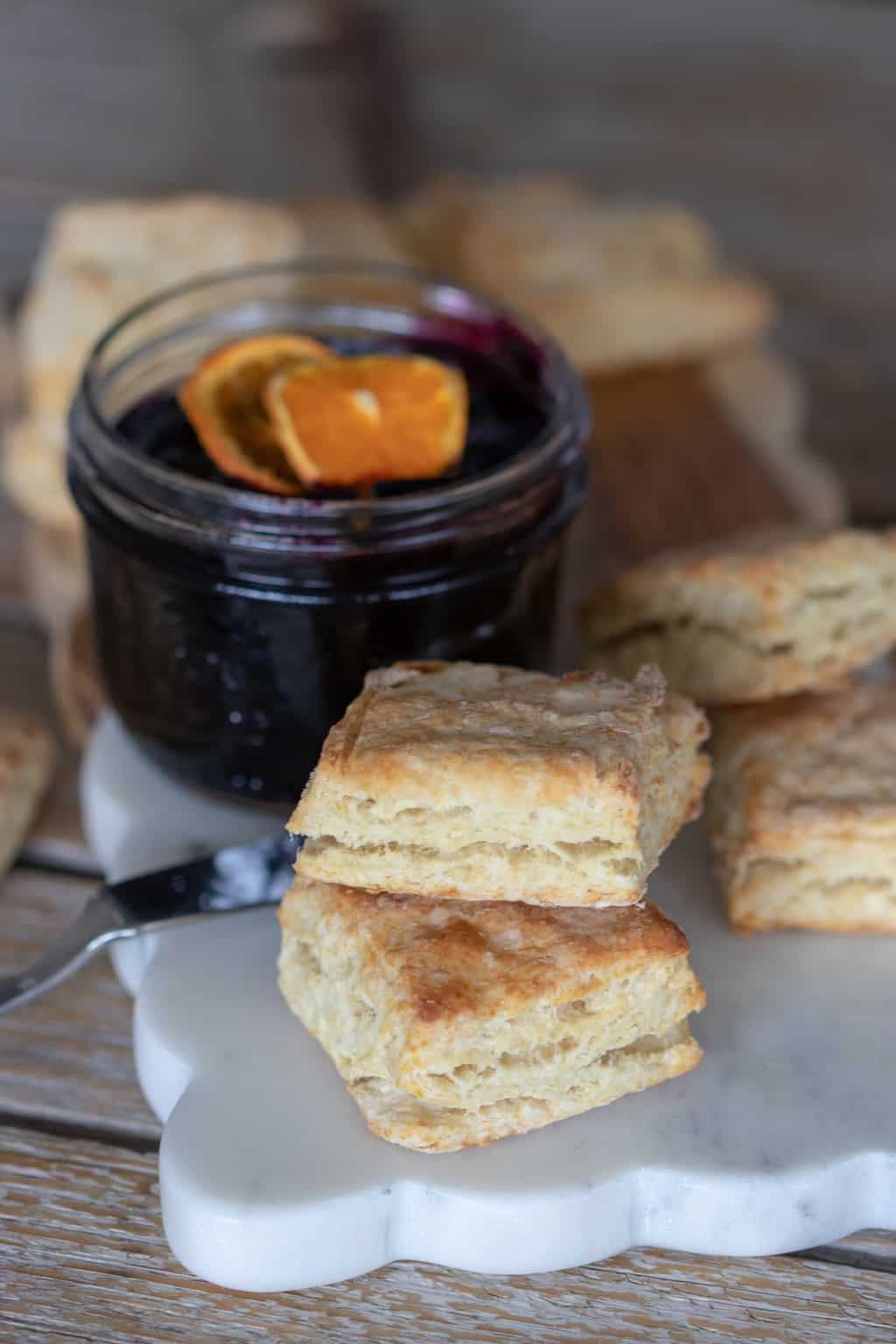 These Weight Watchers Homemade Buttermilk Biscuits are so good!  There are 4 Weight Watchers Freestyle Smart Points in each serving.