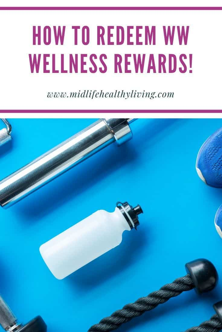 Another pin showing how to redeem ww wellness wins rewards.