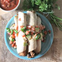 Instant Pot Chicken and Black Bean Taquitos