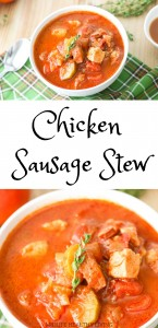WW chicken sausage stew is a hearty dinner recipe that is great for meal prep. This delicious healthy chicken sausage stew is quick and easy!