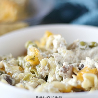 This healthy tuna noodle casserole is the perfect easy dinner recipe. My Weight Watchers tuna noodle casserole is low in points, easy to make, and great for meal prep!